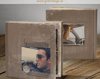 PHOTOBOOK - Men's history - photo books in scrapbooking style  - Photoshop Templates for Photographers.12x12 Photo Book/Album Template.