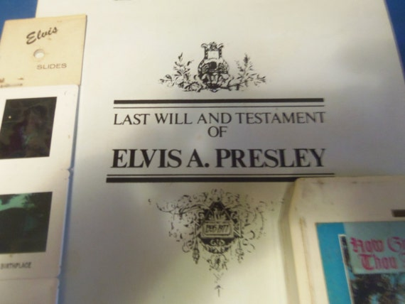 Resultado de imagem para the last will and testament of elvis presley