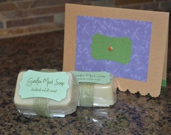 Garden Mint Soap/Card Set