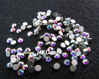 Swarovski Rhinestones for Nails ss7 Crystal AB 2.1mm Flatback Rhinestones Nail Art Nail Tools [144 pcs]