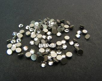 Swarovski Rhinestones for Nails ss5 Crystal Clear 1.7mm Flatback Rhinestones Nail Art Nail Tools [144 pcs]
