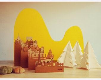 Paris Postcard, Pocket-Cities - Postal Paris, cities of Pocket