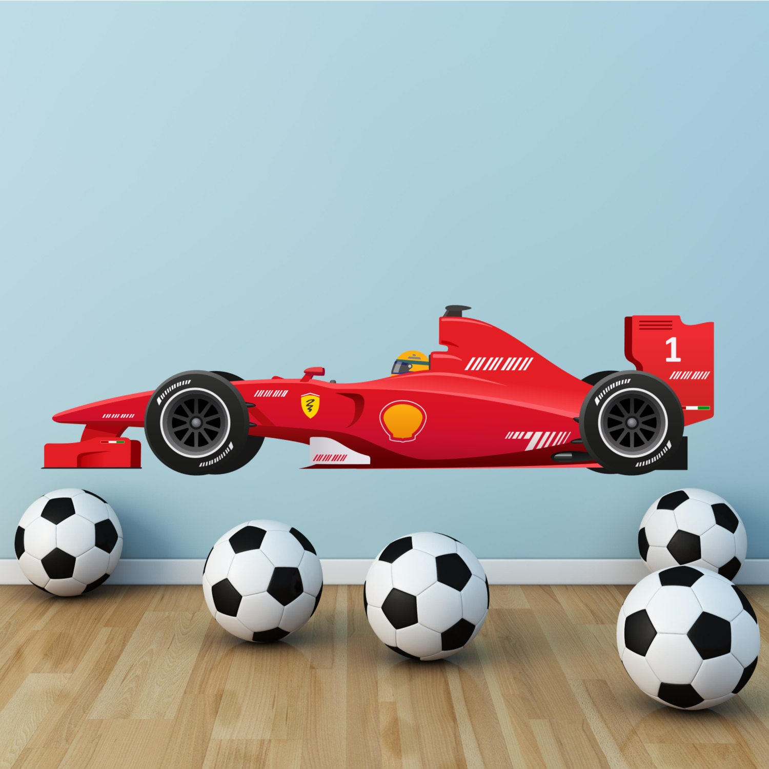 formula 1 f1 race car wall art sticker boys decal transfer