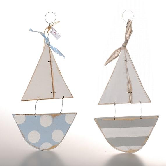 Wood Sailboat Wall Decor : Items similar to wooden boat wall decor seaside