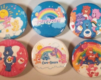 Care Bears Badge Button Pin Set of 6
