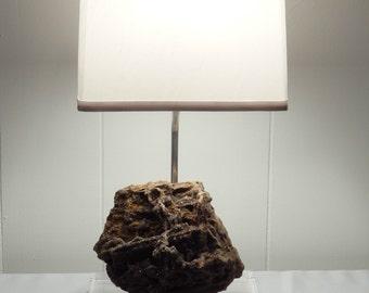 """Amazing Sparkling Petrified Wood Table Lamp """"Natasha"""""""