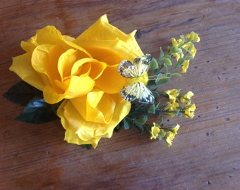 Yellow Rose Fascinator