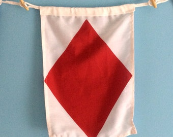 "Nautical Signal Flag - ""F"""