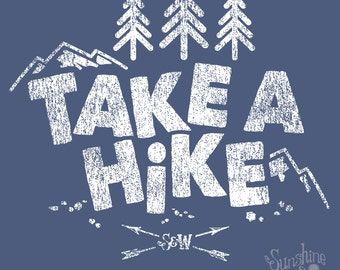 Take A Hike  - (XXL) Indigo T-Shirt
