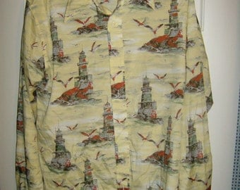 Bronzini Disco Shirt--Lighthouse Pattern