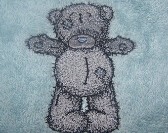 Personalised embroidered Teddy bath towel (100% cotton)
