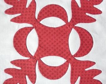 Oak Leaf Reproduction Needleturn Applique Quilt Pattern pdf Download Now