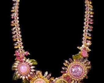 Sherbet Sparkle Collar Necklace