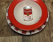 Vintage Andy Warhol Campbell's Soupo plate & bowl set