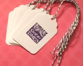 TAGS / Wine Glass / Party Favors Gift Packaging / Good Times Hand stamped