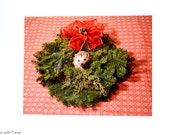 Hedgehog in Christmas Wreath Postcard, set of 2 postcards, The Wreath of Katniss
