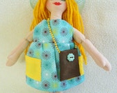 Summer Fun Girl Doll - OOAK Cloth Doll