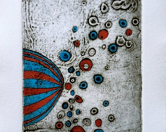 Untitled Collograph by Claire Jauregui