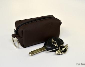 Mini Leather Zipper Bag
