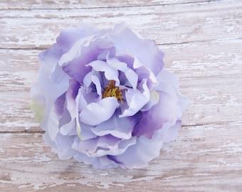 Lavender Peony Hair Flower Clip