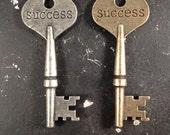 Success Key Word Industrial Vintage Style Jewelry Findings