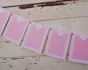 Cute As a Button 12 Month Photo Banner- Girl 1st Birthday