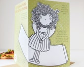 Colour In Fairy Tree Topper Christmas Card