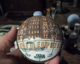 Custom hand painted ornament painted with your own home personalized for free