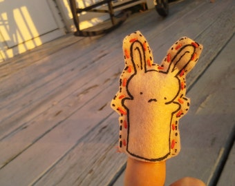 Bunny Finger Puppet - a tiny rabbit friend for you