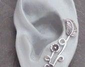 Sterling EAR PIN  Earring - EDEN  Single Silver Ear Sweep - Dramatic Different
