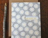 mother's day card / floral card for mom / daisies