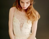 Josephine - lace and silk chiffon gown - SALE -