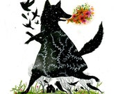 Black Fox: Limited Edition 8 x 10 inch Archival Ink Jet Print