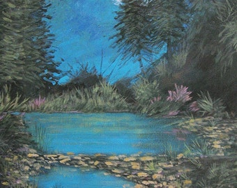 Original Painting, 24 X 30, Blue Springs, traditional art, by Foust