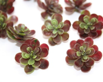 fake succulents 15 artificial mini succulents in green and burgundy fake chicks and hens