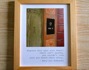 Mary Lou Kownacki Quote / Books (8.5 x 11 Print)