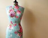 Bedroom Decor Display Mannequin Vivid Blue Floral Bouquet Female Dress Form