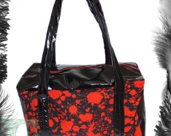 Horror Blood Spatter & Pvc Handbag, Psychobilly
