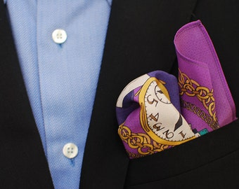 Purple Dandy Men's Silk Pocket Square Handkerchief