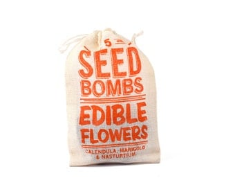 Seed Bombs - Indoor or Outdoor Gardening Edible Flowers Seed Ball Seed Grenade