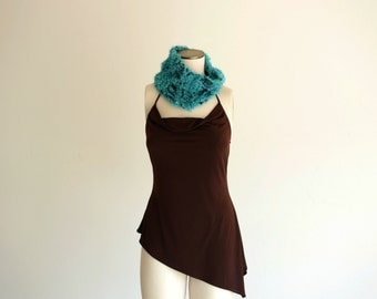 Turquoise Scarf Turquoise Infinity Scarf Turquoise Scarf Infinity Turquoise Cowl Knit Infinity Cowl Accessories