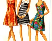 60s mod dress vintage sewing pattern Simplicity 7988 mod bridesmaid or cocktail dress Bust 36 Uncut