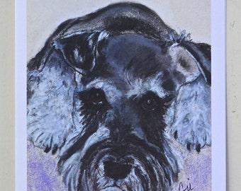 Daisy Schnauzer Dog Art Note Cards By Cori Solomon