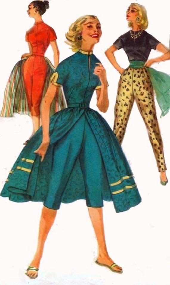 1950s Simplicity 1812 Rockin Cigarette Capri Pants With