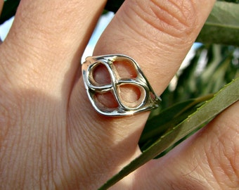 70% OFF Going Out of Business Sale.. Last One. Infinity Ring - Sterling Silver  Size 6