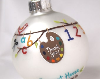 Teacher/Class/Childcare Thank You Ornament - Personalized