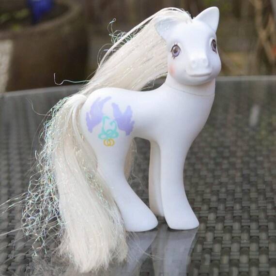 My Little Pony Wedding: Vintage My Little Pony 'Pony Bride' White Bridal