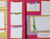 12x12 Premade Scrapbook Pages - girl layout -- SISTERS ARE FOREVER -- GiRLS, siblings, family, sister love