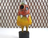 Art Sculpture Halloween Zombie Candy Corn  Paper Mache - Torpid