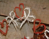 Cottage Chic Valentine's Day Painted Heart & Bow Grapevine Garland - TheBrokenHouse